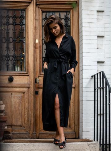ROBE MAKAN - Noir - Robes - Vêtements Bio - Palem Brand