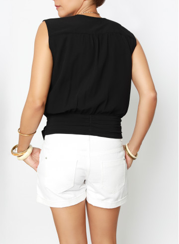 TOP GARDIA NOIR - Tops & chemises - Vêtements Bio - Palem Brand