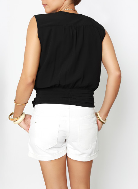 TOP GARDIA BLACK - Tops - Vêtements Bio - Palem Brand