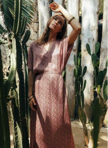 ROBE ANALU - Imprimé Sunset Jalan - Robes - Vêtements Bio - Palem Brand