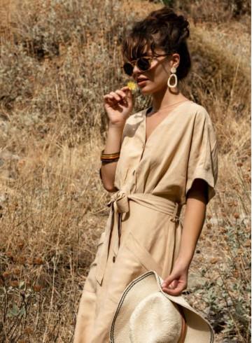 DRESS HINA - Beige - Home - Vêtements Bio - Palem Brand