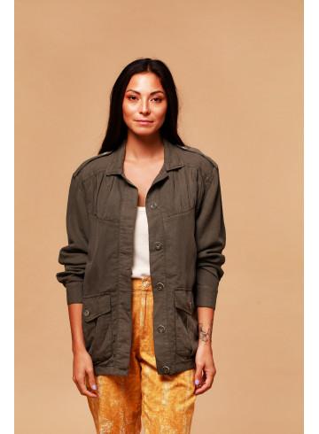 JACKET UMEYA - Kaki - Home - Vêtements Bio - Palem Brand