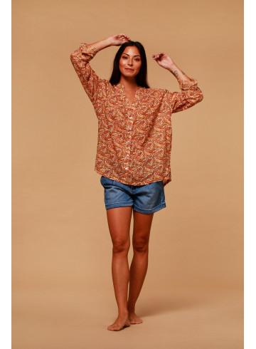 BLOUSE ALOMBA - Paisley Print - Tops - Vêtements Bio - Palem Brand