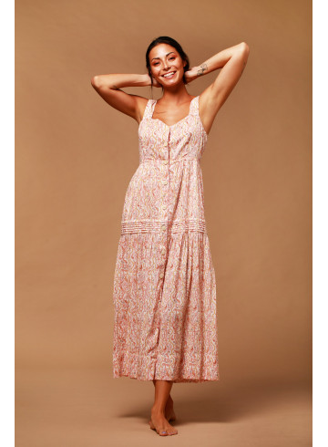 ROBE MALEE IMPRIMEE - Accueil - Vêtements Bio - Palem Brand