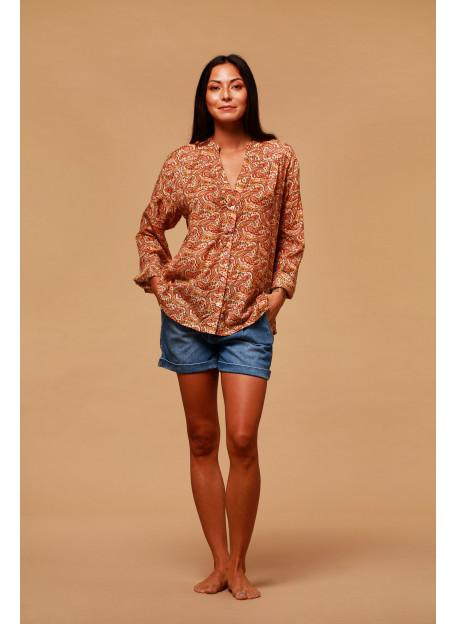 BLOUSE ALOMBA - Tops - Vêtements Bio - Palem Brand