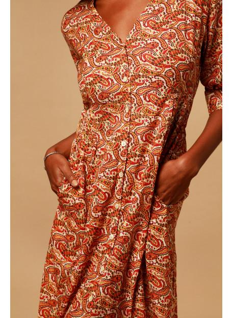 ROBE KOUBA - Robes - Vêtements Bio - Palem Brand