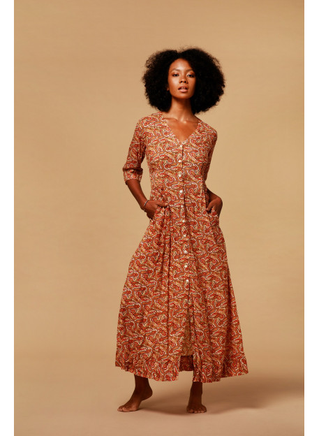 DRESS KOUBA - Dresses - Vêtements Bio - Palem Brand