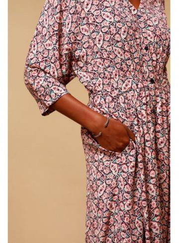 DRESS BAMOKA PRINT - Dresses - Vêtements Bio - Palem Brand