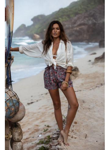 SHORT AMILY - Green Windy leaves - Jupes & Shorts - Vêtements Bio - Palem Brand
