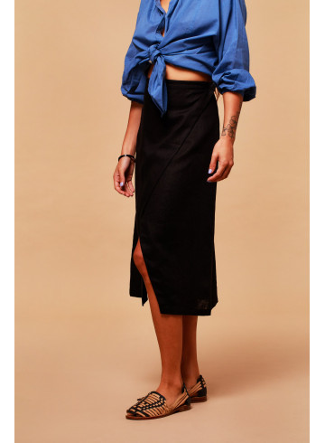 JUPE YANA - NOIR - Jupes & Shorts - Vêtements Bio - Palem Brand
