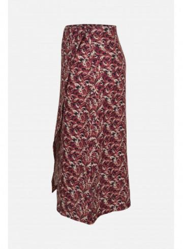 JUPE YANA - PINK WINDY LEAVES - Jupes & Shorts - Vêtements Bio - Palem Brand