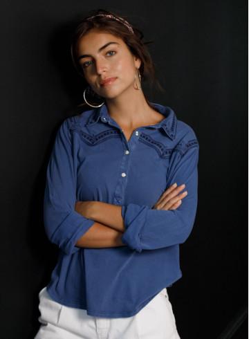 BLOUSE SHEA - Bleu Nuit - Tops - Vêtements Bio - Palem Brand