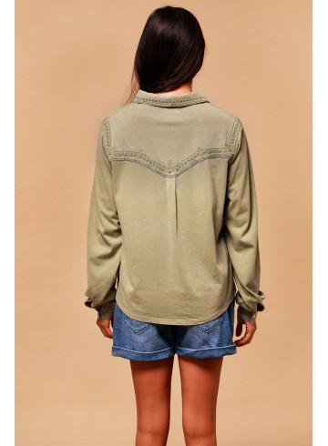 BLOUSE SHEA - Kaki - Tops - Vêtements Bio - Palem Brand