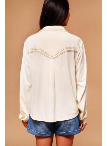 BLOUSE SHEA - Ecru - Tops - Vêtements Bio - Palem Brand