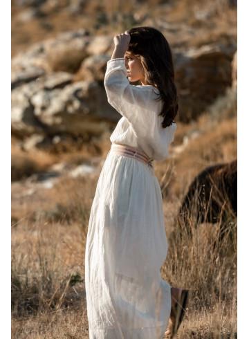DRESS ELIA - ECRU - Dresses - Vêtements Bio - Palem Brand