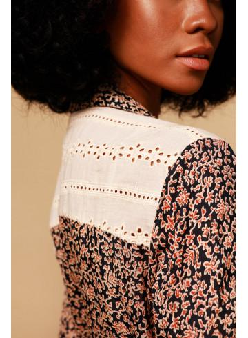 DRESS FELICIE - ROSE POUDRÉ  - Dresses - Vêtements Bio - Palem Brand