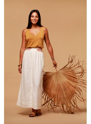 SKIRT FLOW - ECRU - Skirts & Shorts - Vêtements Bio - Palem Brand