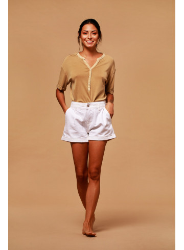 T-SHIRT PALAU - Camel - Tops - Vêtements Bio - Palem Brand