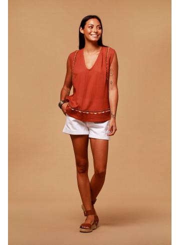 TOP PABLO - Rust - Tops - Vêtements Bio - Palem Brand