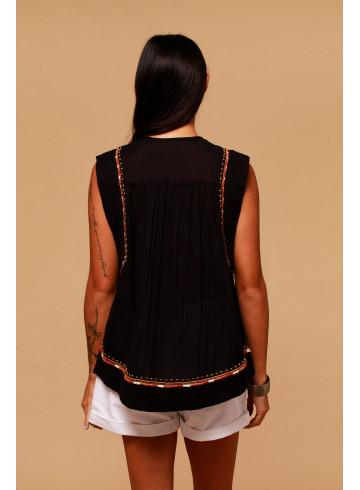 TOP PABLO - Black - Tops - Vêtements Bio - Palem Brand