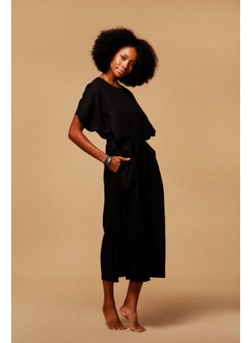 DRESS MANAKA - BLACK - Dresses - Vêtements Bio - Palem Brand