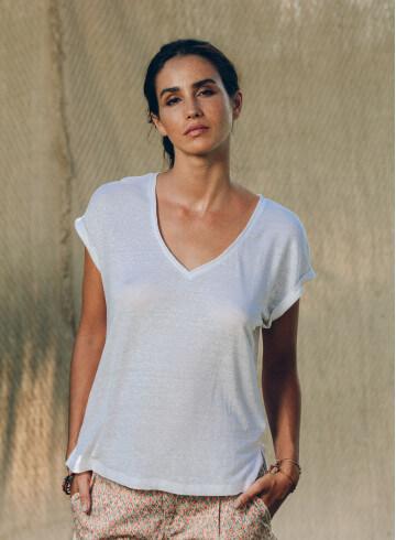 MANUI T-SHIRT - White - Tops - Vêtements Bio - Palem Brand