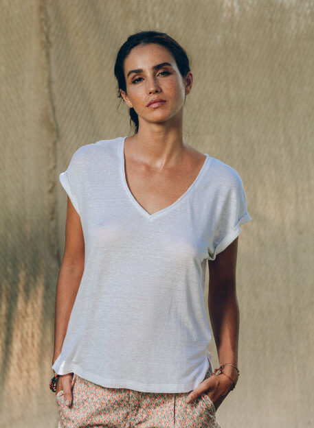 MANUI T-SHIRT IN WHITE -PALEM