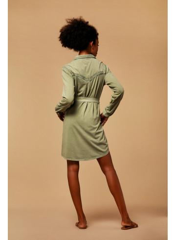 DRESS MYA - KAKI - Dresses - Vêtements Bio - Palem Brand