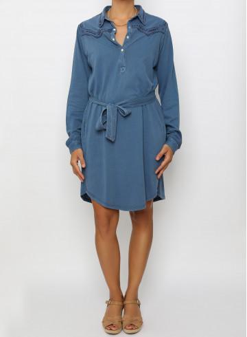 DRESS MYA - BLEU NUIT - Dresses - Vêtements Bio - Palem Brand