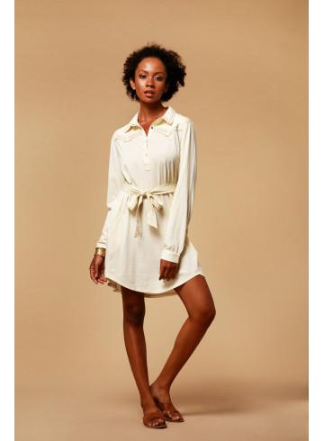 DRESS MYA - ECRU - Dresses - Vêtements Bio - Palem Brand