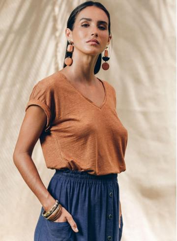 MANUI T-SHIRT - Coconut - Tops - Vêtements Bio - Palem Brand
