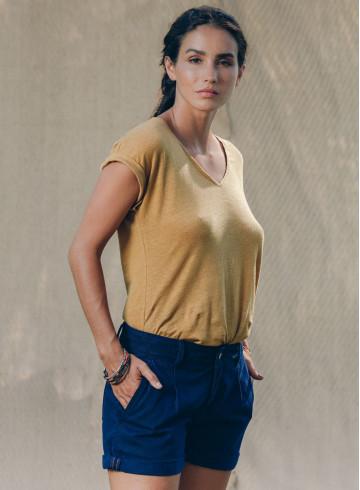 MANUI T-SHIRT - Ocre - Tops - Vêtements Bio - Palem Brand