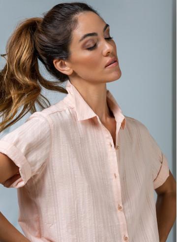 CHEMISE VIDA - Rose - Tops & chemises - Vêtements Bio - Palem Brand