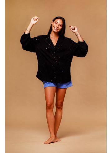 SHIRT ANABEL - BLACK - Tops - Vêtements Bio - Palem Brand