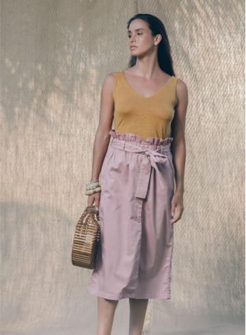 MANINI TOP - Ocre - Tops - Vêtements Bio - Palem Brand