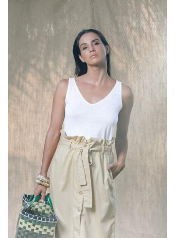 TOP MANINI - Blanc - Tops & chemises - Vêtements Bio - Palem Brand