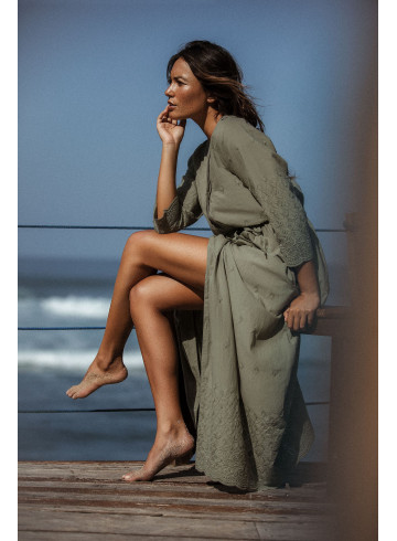 DRESS KLUANA - KAKI - Dresses - Vêtements Bio - Palem Brand
