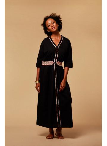 DRESS ELIA - BLACK - Dresses - Vêtements Bio - Palem Brand