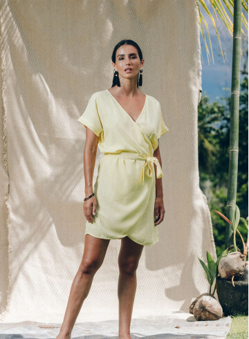 MATAI DRESS IN YELLOW -PALEM