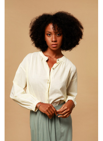 CHEMISE PAVOT - Ecru - Chemises - Vêtements Bio - Palem Brand
