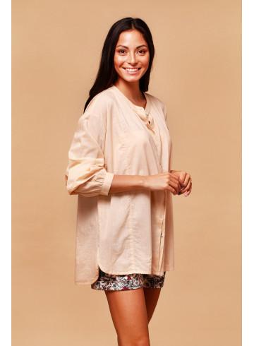 CHEMISE PAVOT - Sand - Chemises - Vêtements Bio - Palem Brand