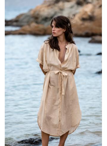 DRESS LIAN - SAND - Dresses - Vêtements Bio - Palem Brand
