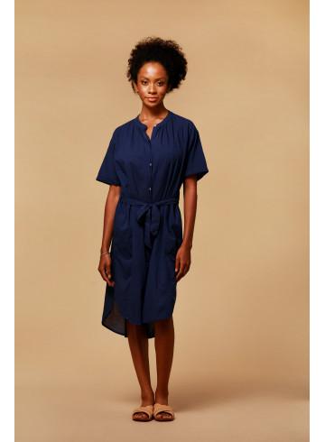 ROBE LIAN - INDIGO - Robes - Vêtements Bio - Palem Brand