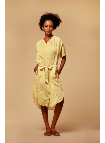 DRESS LIAN - OCRE - Dresses - Vêtements Bio - Palem Brand