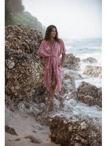 ROBE LIAN - ROSE - Robes - Vêtements Bio - Palem Brand