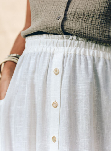 IPEVA SKIRT IN WHITE -PALEM