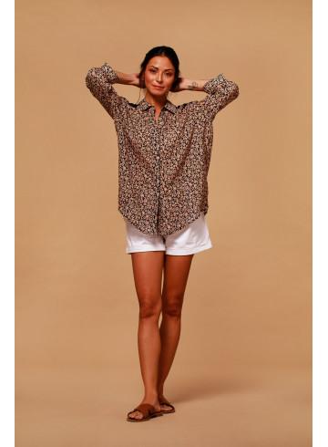 CHEMISE KOPACABA - Rose poudré  - Tops & chemises - Vêtements Bio - Palem Brand