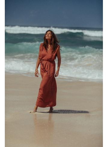 DRESS KARIBA - Rust - Dresses - Vêtements Bio - Palem Brand