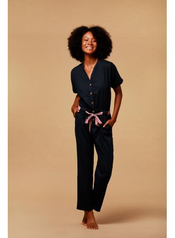 JUMPSUIT BRILLO - Black - Trousers & Jumpsuits - Vêtements Bio - Palem Brand