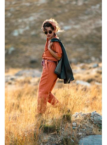 JUMPSUIT BRILLO - Rust - Trousers & Jumpsuits - Vêtements Bio - Palem Brand